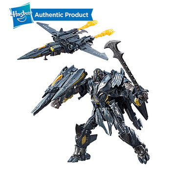 Hasbro Transformers Toys The Last Knight Premier Edition Leader Class Megatron Decepticon Action Figure Collection Model Dolls transformers toys the last knight premier edition steelbane deluxe dinobot slug autobot sqweeks action figures collection model