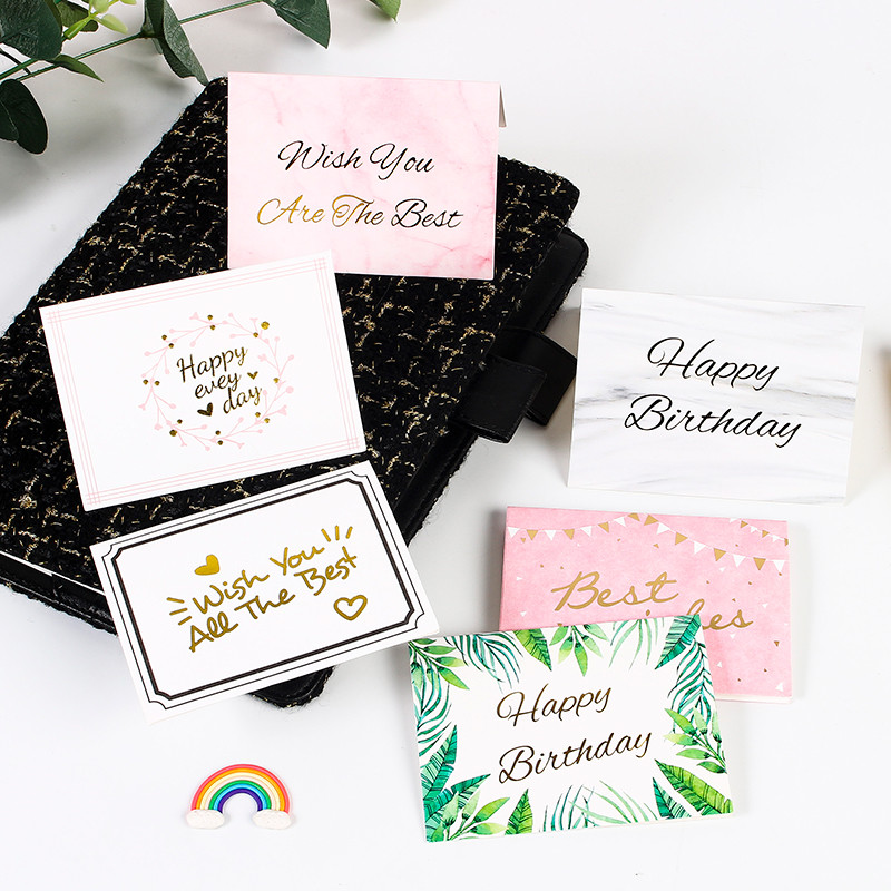 Decoration Greeting Card Envelope Business Message Card Paper Birthday Christmas New Year Wedding Thanks Card Stationery