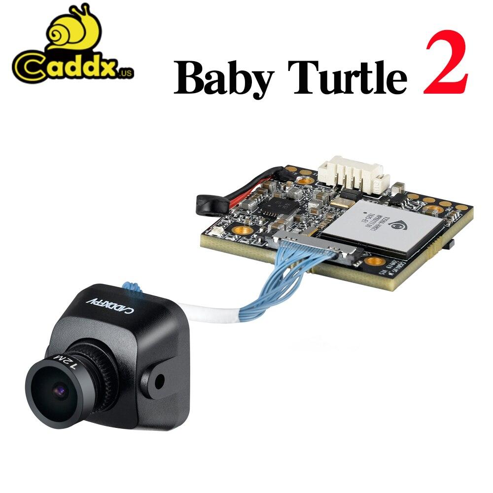 Caddx bébé tortue V2 caméra 1080p HD lentille 800TVL FPV Machine de croisement WDR caméra NTSC/PAL 16: 9/4: 3 commutable Sony puce