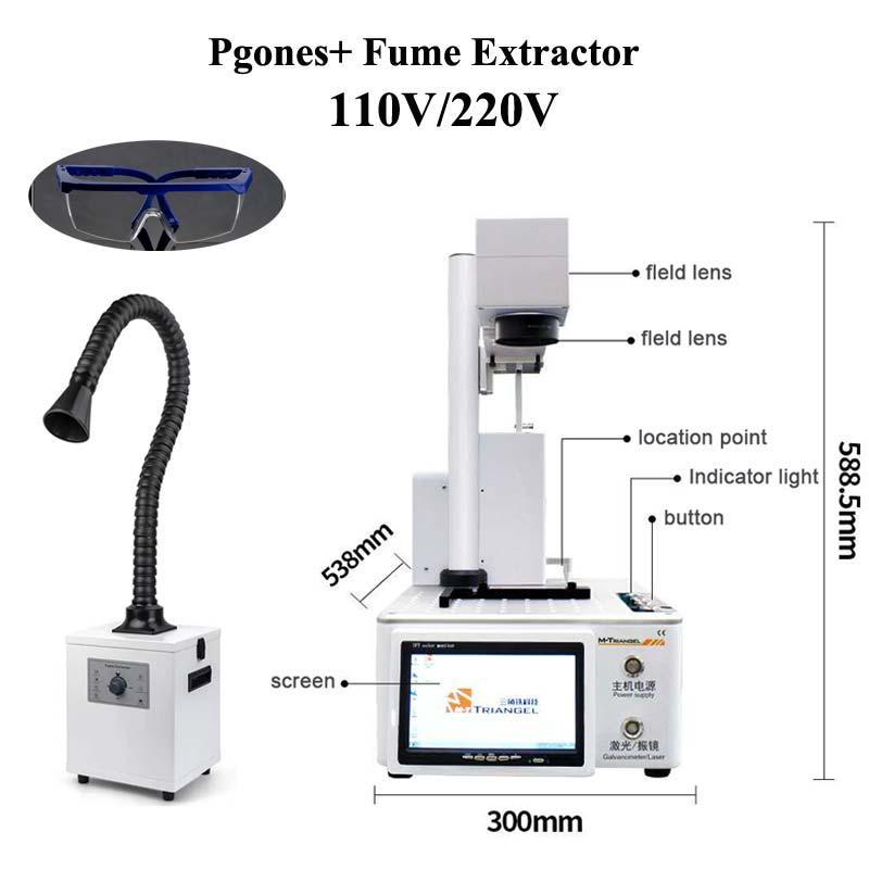 New M-triangel DIY Printer CNC Laser Cutting For 11 Xs Xsmax X Back Glass Remove Lcd Frame Repair Laser Separate Machine+smoker