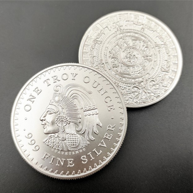Мексика монета один Трой унция 999 чистого серебра копия Америка медаль памятная копия Америка медаль памятный значок-валюты