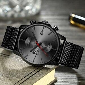 Image 4 - Top Luxury Brand Men zegarki biznesowe chronograf wodoodporny analogowy zegarek na rękę kwarcowy pełny stalowy męski zegar Relogio Masculino