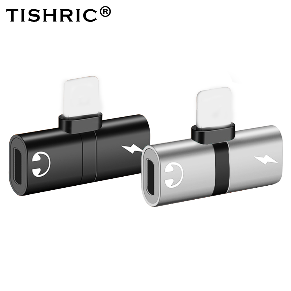 TISHRIC Headphone Adapter For Apple Iphone X 8 7 Plus XS XR Splitter 2 In 1 Headphone&Charge Cable AUX Adaptador For Iphone