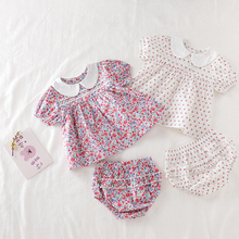 Baby Girls Clothes Set 2021 New Flower T-shirt+PP Shorts Summer Newborn Baby Girls Clothes Infant Baby Girls Clothing Suit