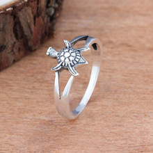 Simple fashion silver sea turtle ring party jewelry engagement wedding ring lover gift charm jewelry cuteeco hight quality silver pan ring love heart ring original wedding jewelry gift for lover engagement accessories