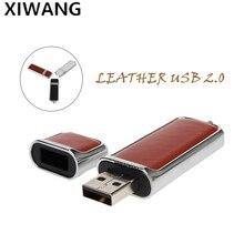 new high-ranking leather 2.0 high speed Flash Memory 128gb Metal pendrive 8GB PEN DRIVE 16GB 64GB Creative USB flash Drive 32gb