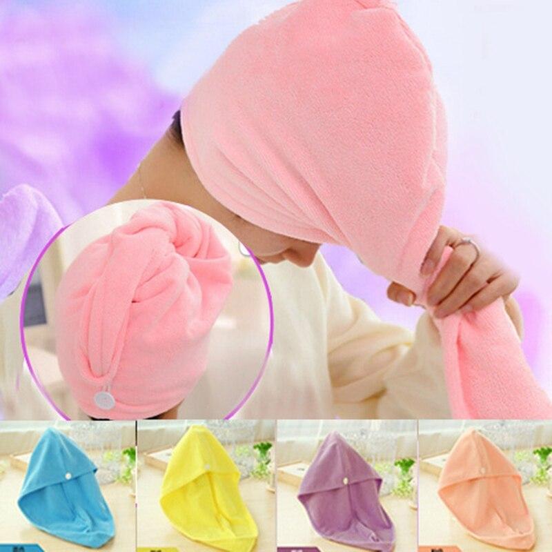 Séchage rapide serviette cheveux magique microfibre cheveux séchage rapide sèche serviette serviette de bain chapeau bouchon rapide Turban sec salle de bain accessoires