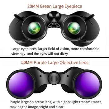 Borwolf 10-30X50 High Magnification HD Professional Zoom powerful Binoculars Light night vision for hunting telescope monocular 4