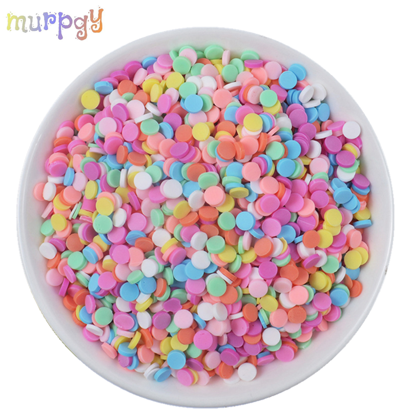 20g/bag Fake Sprinkles Accessories Addition For Slime Charms Fluffy Mud Chocolate Cake Dessert Clay Kit For Toys Slime Supplies