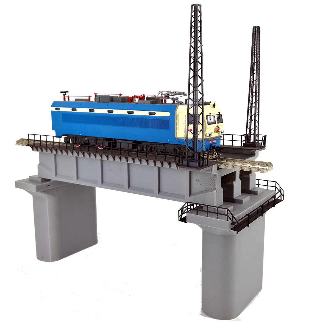 Nowy 1Pc 1: 87 HO skala pociąg kolejowy klimatyczna dekoracja wsporniki montażowe Model do piaskownica stołowa