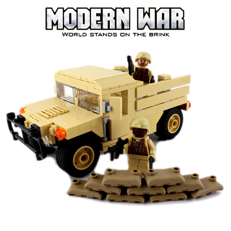 Custom Modern War Military Carrier Transport Humvee Cargo Troop LEGO Compatible
