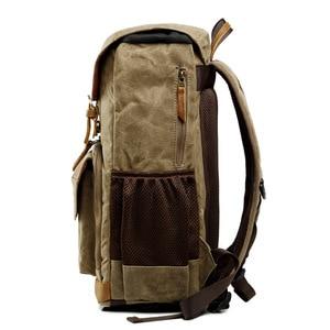 Image 4 - Waterproof DLSR Backpack Camera Bag Large Size Photo Bag Batik Canvas Outdoor DLSR Camera Lens Bag Backpack for Canon Nikon Sony