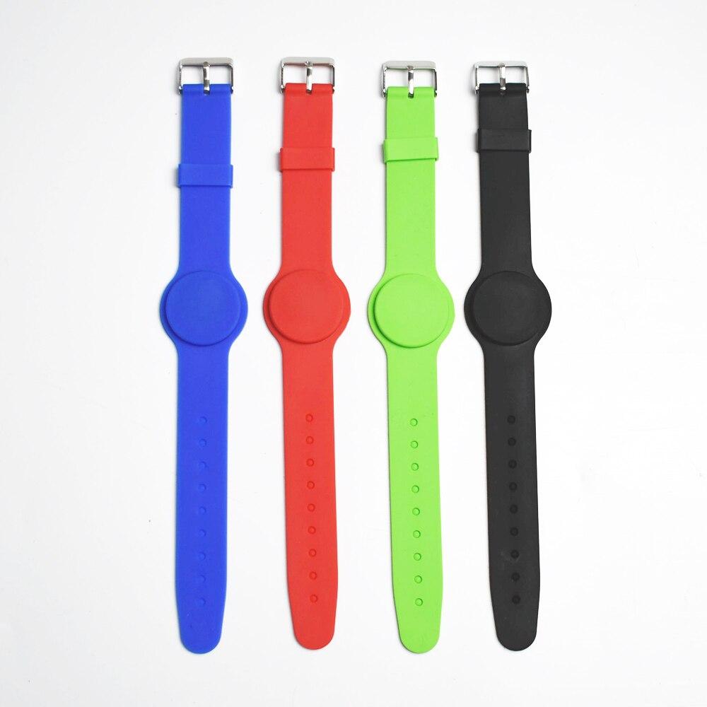 10pcs/lot 125Khz RFID TK4100 EM4100 Waterproof Proximity Smart Card Wristband Bracelet ID Card For Access Control