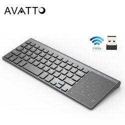 [[Avatto] Mỏng 2.4GHz USB Bàn Phím Mini Không Dây Với Số Bàn Di Chuột Bàn Phím Số Cho Android Windows Máy Tính Bảng, máy Tính Để Bàn, Máy Tính Xách Tay, Máy Tính