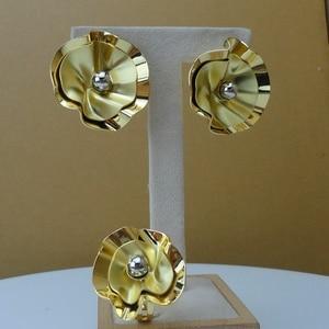 Image 3 - Yuminglai Edlen Schmuck Blume Design Schmuck Sets 24K Dubai Gold Schmuck FHK8077