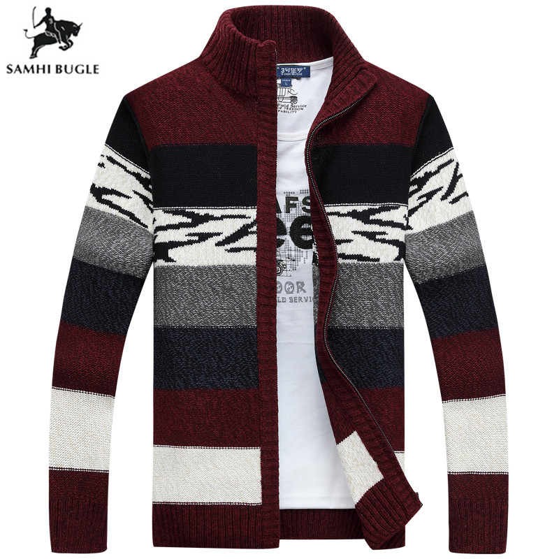 Mens Sweaters for 2019 Men's Knitted Sweaters Cardigans Collar Winter Wool Sweater Fashion Cardigans Male Sweaters Coat