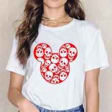 Halloween Skull Mouse Head Women T Shirt Female T-shirt Top Tee