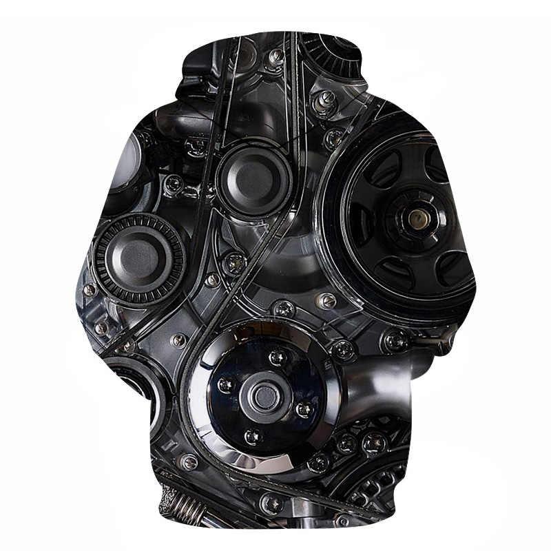 Ô Tô Động Cơ In Hoodie Nam 3D Động Cơ Xe Ô Tô Áo Nỉ Hoodie Nam Thời Trang Áo Unisex Trùm Đầu Nhân Quả Sweatreet Chui Đầu