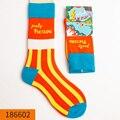 5 пар мужских носков HYRAX, веселые забавные носки из чесаного хлопка с омлеткой, лягушкой, сумасшедшими бургерами, лососем, авокадо, птицей, ро...