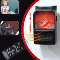 Mini Elektrische Wand-outlet Flamme Heizung EU Plug-in Air Warmer PTC Keramik Heizung Herd Heizkörper Haushalt Wand handliche Fan