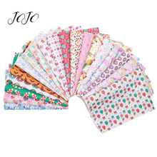JOJO BOWS 22*30cm 10pc Faux Synthetic Leather Fabric Sheet Set For Craft Random Mixed Printed Needlework DIY Hair Bows