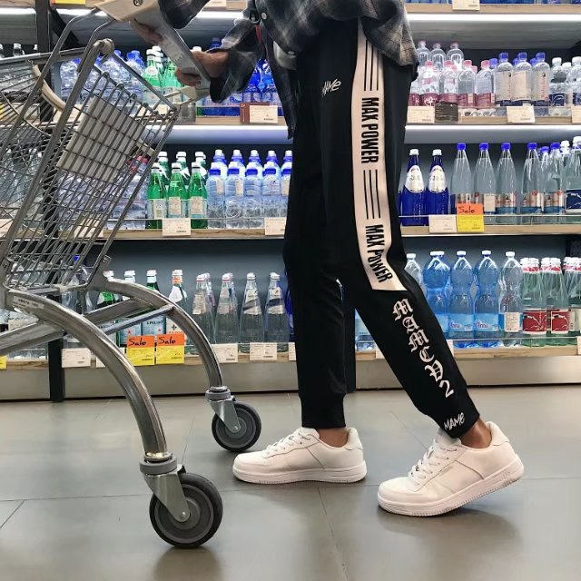 Hip Hop HipHop Fashion Man Pants Korean-style Trend Cool Street Men's Loose-Fit Hip Hop Beam Leg Europe And America Casual Sport
