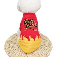 Жилет для домашних собак и кошек, футболка, Рождественская Одежда для собак на Хэллоуин, Полиэстеровая футболка, костюм для щенков среднего размера