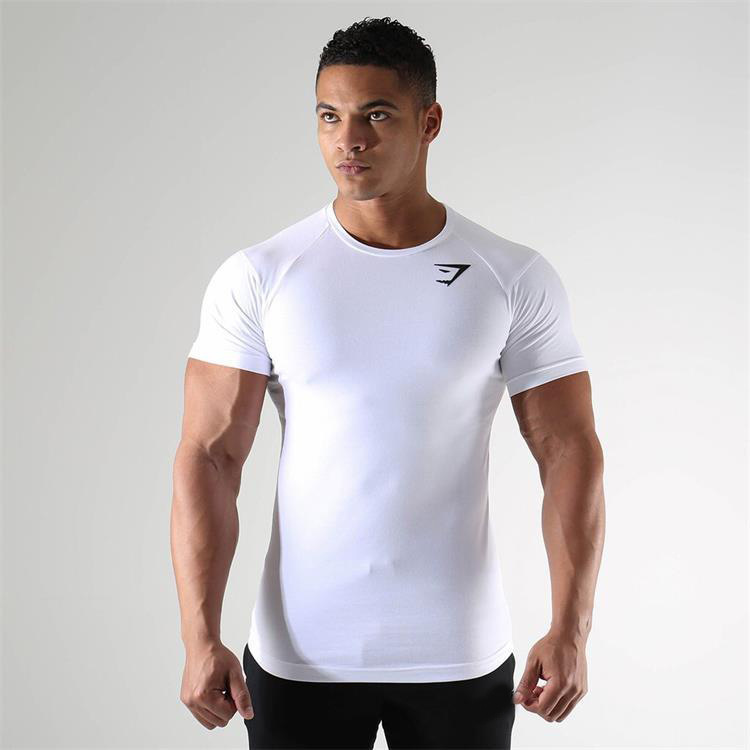 Male T-shirt Summer New Sports Short-Sleeved Fast Drying Training Breathable Compression Jogging Tights Gym Fitness Tracksuit