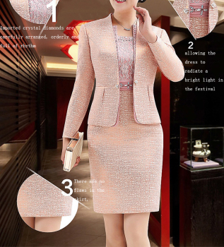 Lace Mother of the Bride Dresses Knee Length 2 Piece with Jacket Mother Dress High Quality  Wedding Party Groom Mother Gown 2020