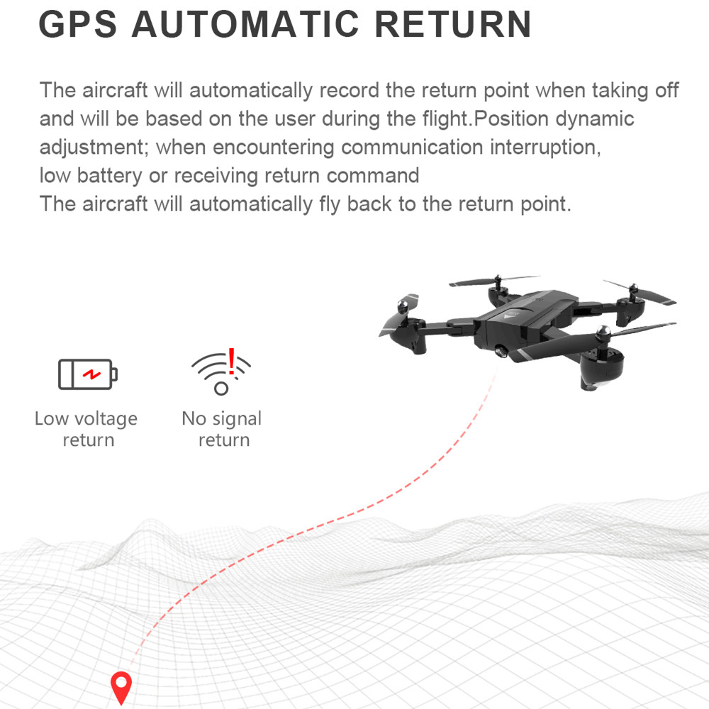 New GPS Wifi RC Drone with 4K 1080P HD Camera  Follow Me Quadrocopter FPV Professional Drone Long Battery Life Toy