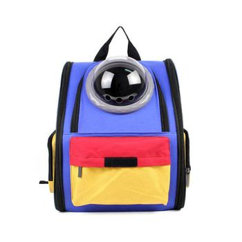 Blue Canvas Pet Backpack Portable Dog Carrier Bag Puppy Dog Bag Pet Cat Outdoor Travel Carrier Dog Supplies Pet Products