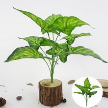 1Bouquet 9 Heads Artificial Plant Fairy Taro Leaves Home Bonsai Decoration Lifelike Decor Durable non-fading garden decor