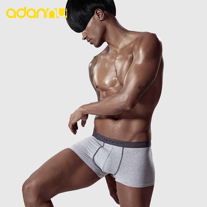 Low Waist Men Underwear Cotton Men Boxer Male Pants Comfortable Underpants Cueca Tanga Breathable Gay Underwear ADANNU AD322