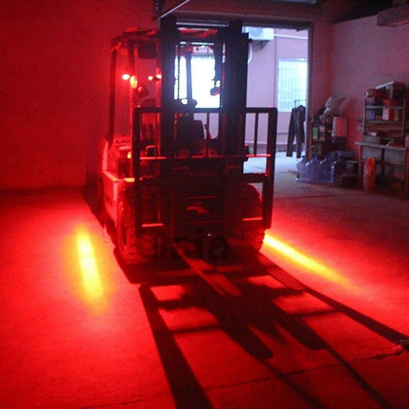 4 Inch 30W LED Forklift Truck Car Warning Lamp Safety Working Light Bar Warehouse Danger Area Light,10-80V Waterproof (1Pcs)