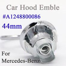 44mm 3D de Metal cromado Star Bonnet emblema insignia para Mercedes Benz W202 W203 W204 W208 W210 W220 W221 W213 W212 A2108800186