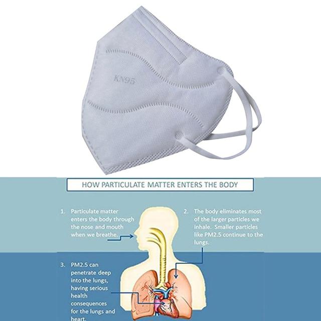 2Pcs ears wearing Protective Mask KN95 Mask Antivirus Flu KN95 Mask Anti PM2.5 Fog Dust Mask 3