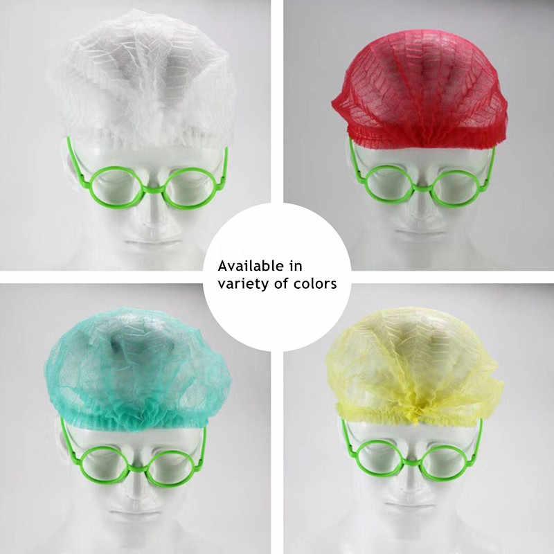 10 Pcs Non-woven Wegwerp Douche Caps Geplooide Anti Dust Hat Vrouwen Mannen Bad Caps Voor Spa Kapsalon beauty Accessoires Hot Koop