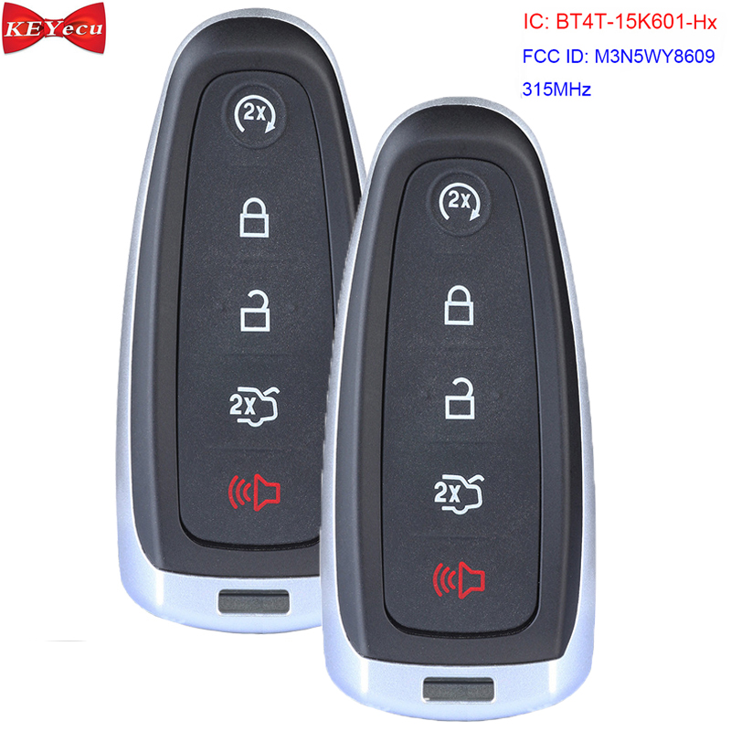 NEW Ford 2011-2018 5 Button Smart Key M3N5WY8609 BT4T Top Quality USA Seller