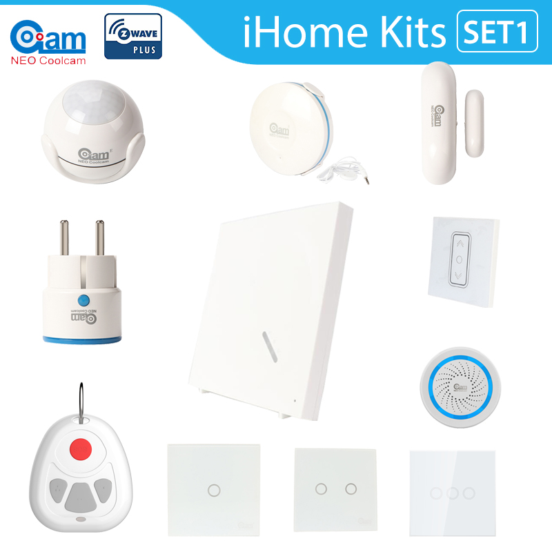 NEO Coolcam Z Wave Smart Home Kits Home Automation Hub Home Monitoring Smart Devices - Alexa Google Home Compatible