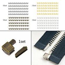50 Sets 8# Metal Zipper Repair Stopper DIY Sewing Open End Z