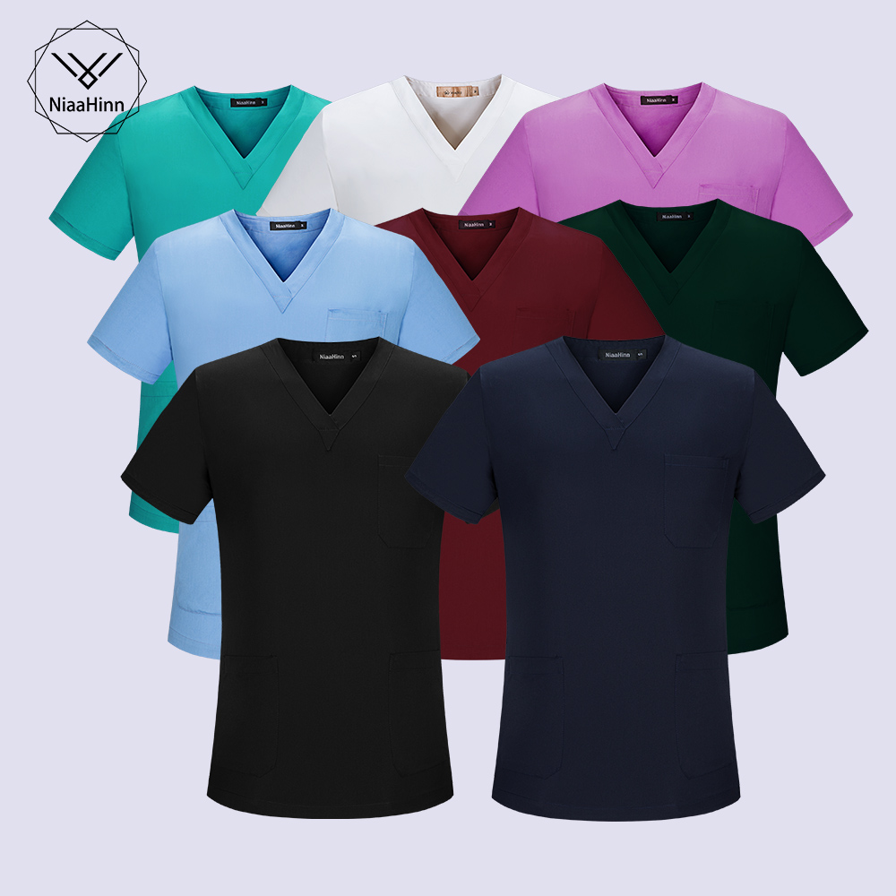 Green Red Medical Uniform Scrub Set Dentist Beauty Salon Nurse Uniform Hospital Woman Medical Overalls Sets Nursing Uniform
