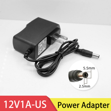 12V 1A DC Power Adapter US Plug Charger LED Strip Lamp 1pcs