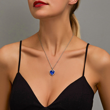 SUMENG 2021 New Titanic Heart Of Ocean Blue Heart Love Forever Pendant Necklace For Women Men Jewelry Gift