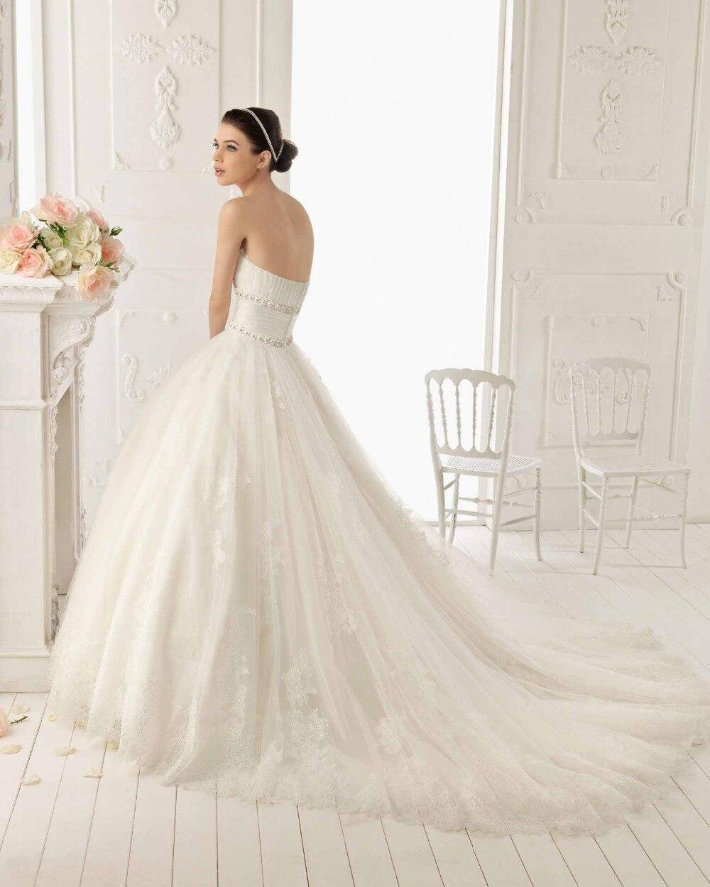 custom beading ball sexy romantic casamento appliques lace wedding dress bridal bride gown vestido de noiva 2016 free shipping