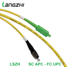 3mFiber Optic Patch Cable - Single Mode -SM G657A1-LSZH 3.0mm (1M, SC/APC to FC/UPC)  sc apc patch cable fiber splicer