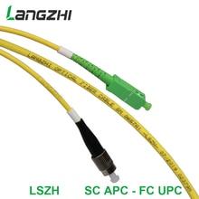 3mFiber Optic Patch Cable - Single Mode -SM G657A1-LSZH 3.0mm (1M, SC/APC to FC/UPC)   sc apc patch cable   fiber splicer цена