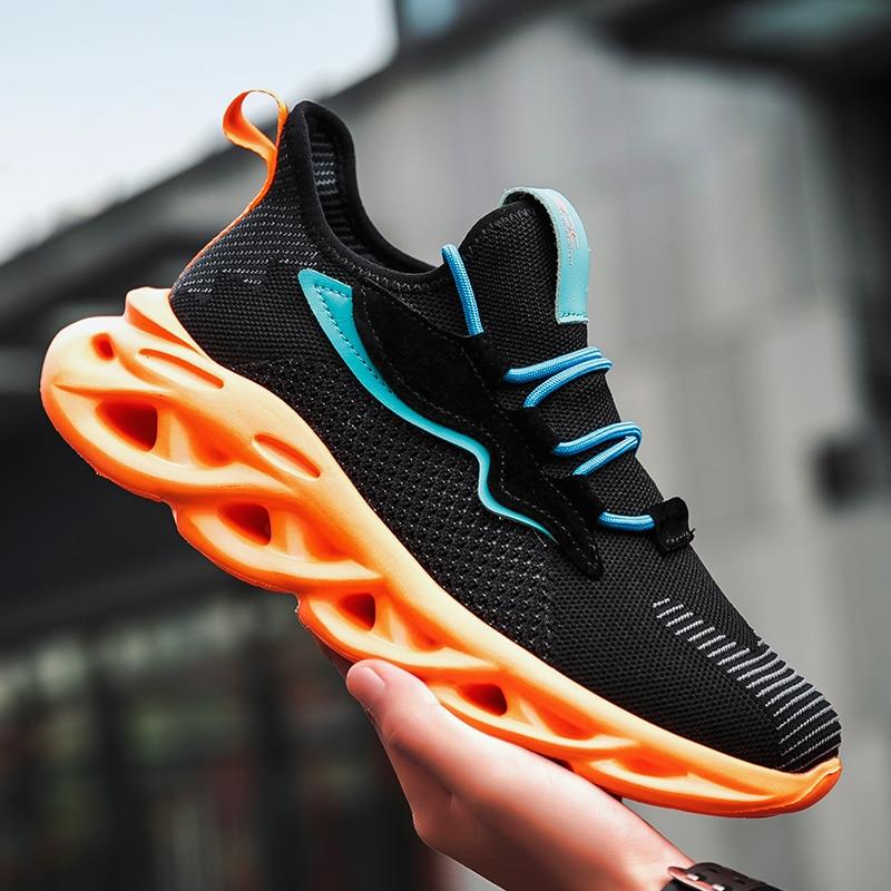 2020 New Fashion Men Sneakers Mesh Casual Shoes Lac-up Men Shoes Lightweight Vulcanize Shoes Walking Sneakers Zapatillas Hombre