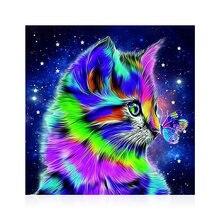5Dダイヤモンド塗装クロスステッチdiyのダイヤモンドの刺繍猫のダイヤモンド絵画フルドリルダイヤモンド絵画ツール家の装飾