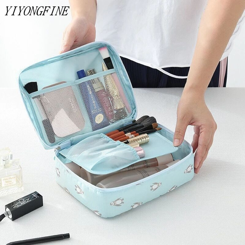 2020 New Women Travel Cosmetic Bag Nylon Multifunction Makeup Bags Waterproof Portable Toiletries Organizer Make Up Cases