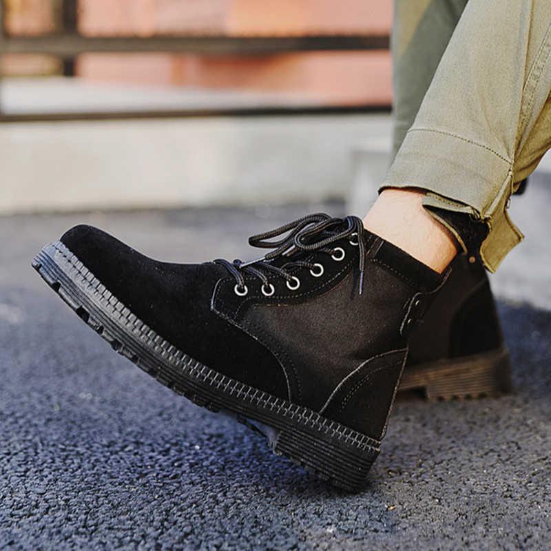 2019 style britannique chaussures pour hommes fil à coudre Chelsea BootsBrogue Chelsea bottes hommes chaussures bottines décontracté coton chaussures